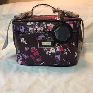 NWOT Betsey Johnson floral bow train case